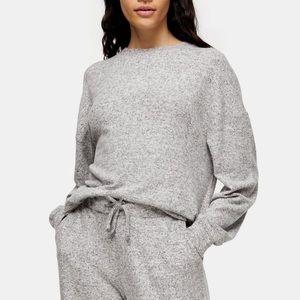 Topshop Gray Marl Super Soft Loungewear Sweatshirt